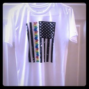 Autism Awareness Distressed Flag Shirt
